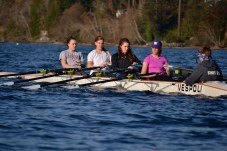 Girls Quad Concentration Rowing
