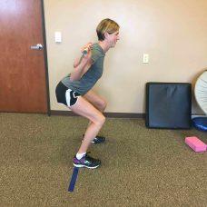 Correct squat posture is key.