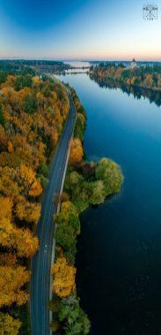 aerial photo of Capital Lake