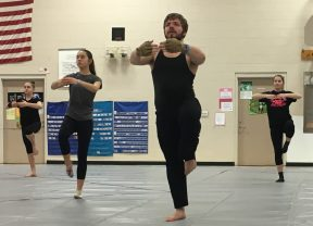 North Thurston High School Winterguard art form