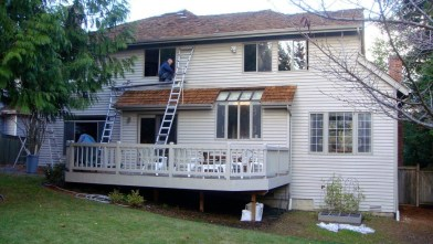 This house is getting all new windows installed professionally by Sunset Air. Photo courtesy: Sunset Air