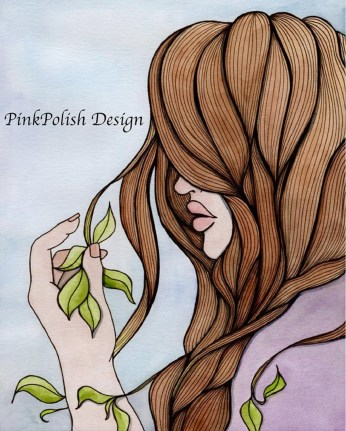 PinkPolish Lady with Leafs Collage