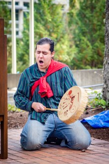 Welcome Woman Carving Unveiling The Evergreen State College-20