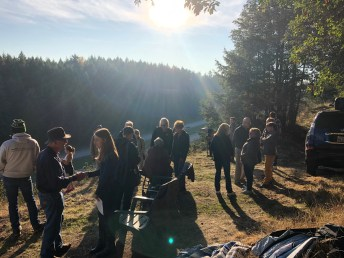 Timberline Medicine Creek Monument ceremony