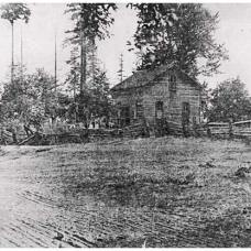 Stephen D Ruddell's home 1852. Photo credit: Thurston County Historic Commission