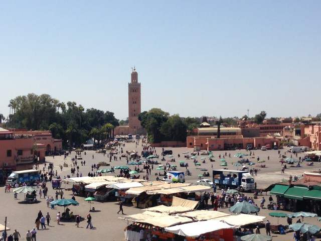 Rooftop view overlooking the Koutoubia Mosque
