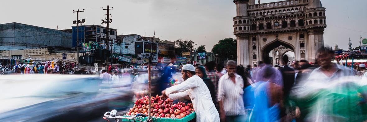 A scene near the Charminar
