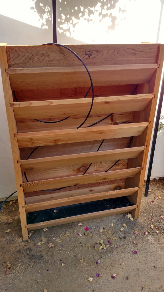 Wood vertical garden planter