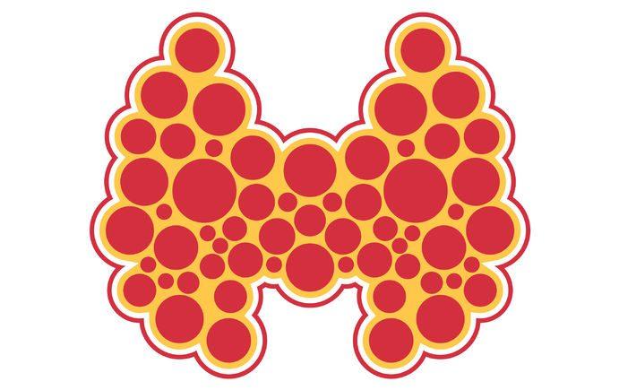 flat modern design icon thyroid.