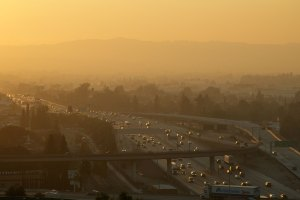 A USC research study found that air pollution may affect the fetal thyroid development. (Photo/Courtesy of the South Coast Air Quality Management District)