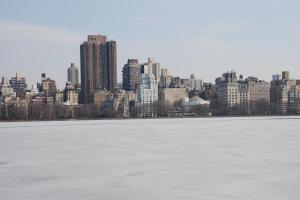 Il lago ghiacciato di Central Park, New York. Inizia la nostra passeggiatina da Nord a Sud di Manhattan.