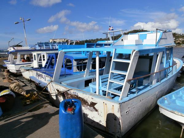 "Samanà. ""Traghetto"" per attraversare il golfo e arrivare a Sabana De La Mer"