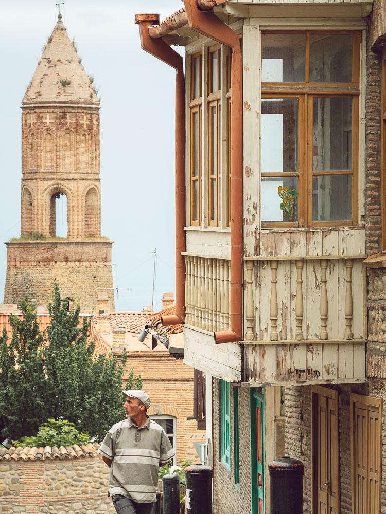 I balconcini tipici della Georgia