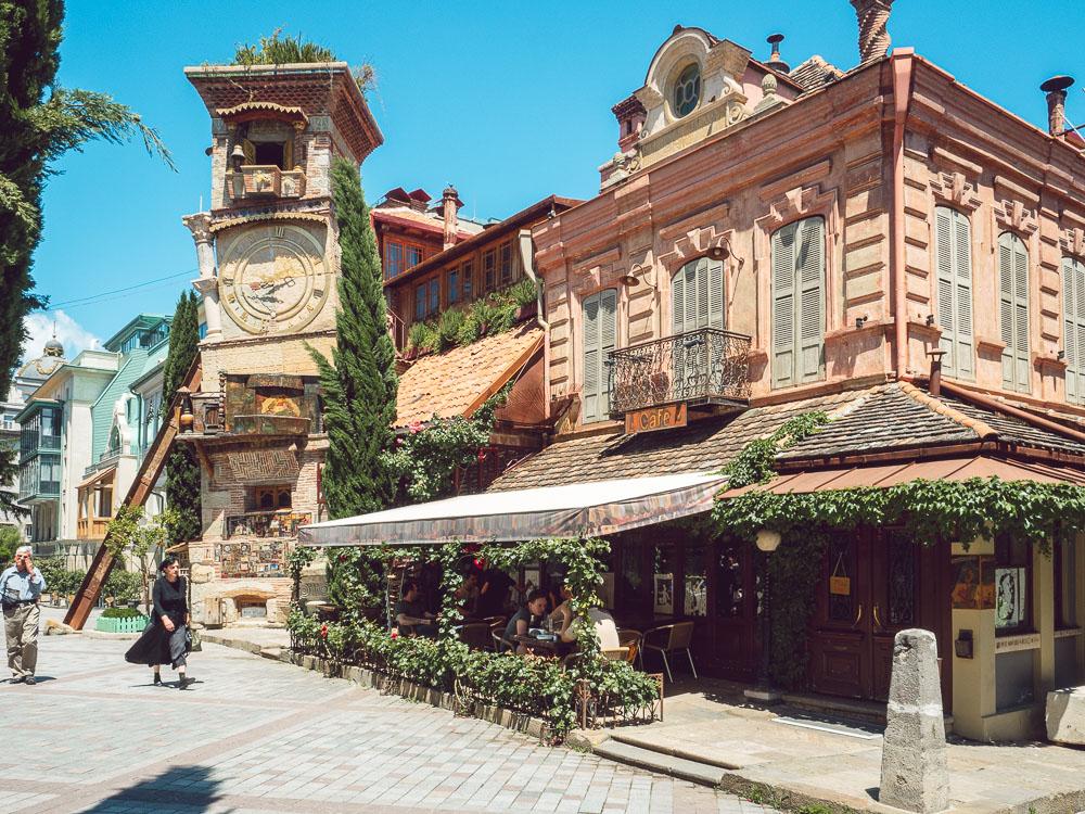 Torre dell'orologio a Tbilisi
