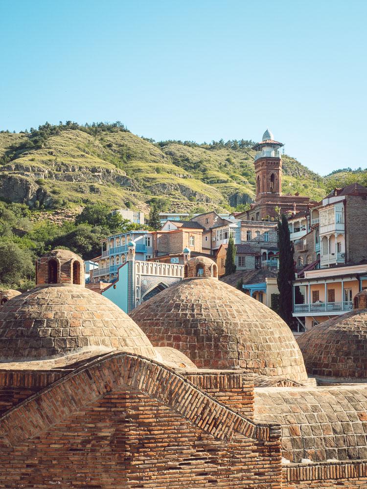 Le cupole di Abanotubani, i bagni turchi di Tbilisi