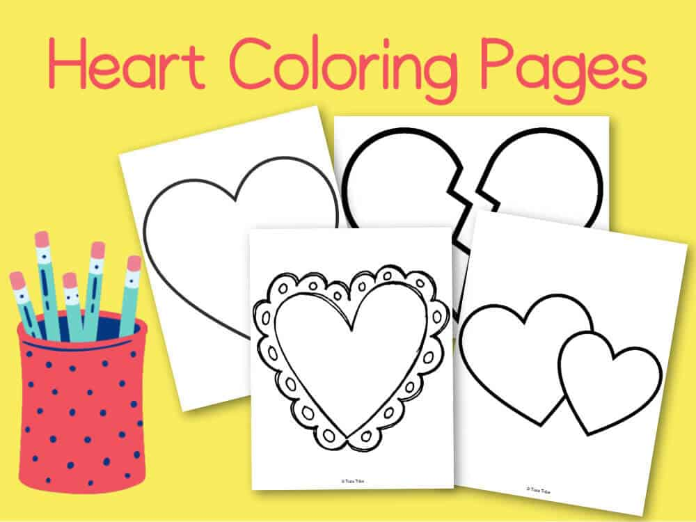 Best Free Heart Coloring Pages Heart Activity Book