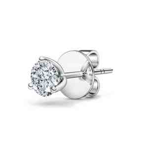 Perhiasan emas berlian white gold 18K diamond gemstone earring trinity