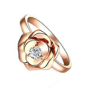 Rose Ring Perhiasan cincin emas dan berian Rose Gold 18K Diamonds