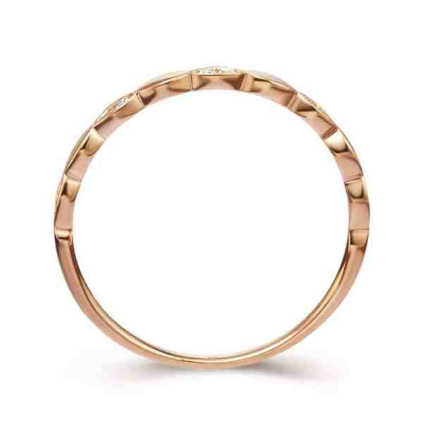 Tiaria Perhiasan cincin emas berlian Rose Gold 18K Diamond Heartbeat
