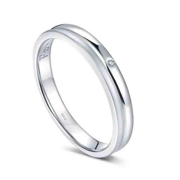Tiaria Perhiasan cincin emas dan berlian White Gold 18K Diamond Forever Soulmate (2)