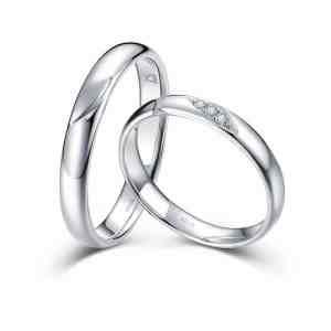 Perhiasan emas berlian white gold 18K diamond Autumn Leaves