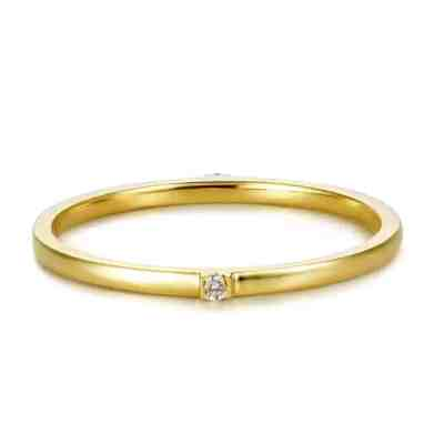 Perhiasan emas berlian white gold 18K diamond Joy