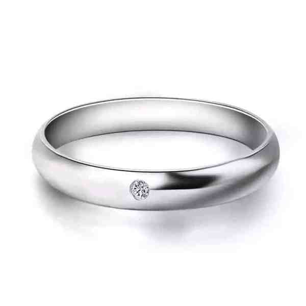 Perhiasan emas berlian white gold 18K diamond forever lover