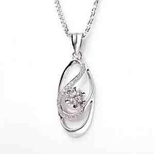 Perhiasan emas berlian white gold 18K diamond DAKADZ004