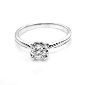 Perhiasan emas berlian white gold 18K diamond DHTXDFJ031