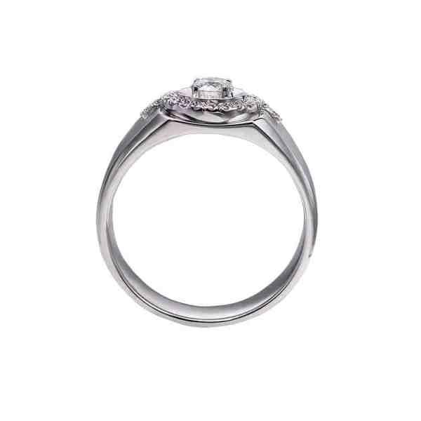 Perhiasan emas berlian white gold 18K diamond DHTXHJZ027
