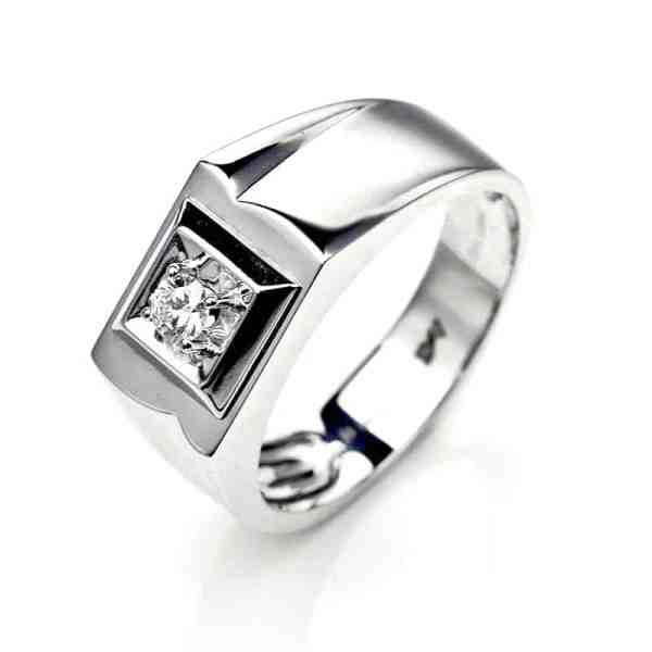 Perhiasan emas berlian white gold 18K diamond DHTXHJZ073