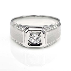 Perhiasan emas berlian white gold 18K diamond DHTXHJZ076