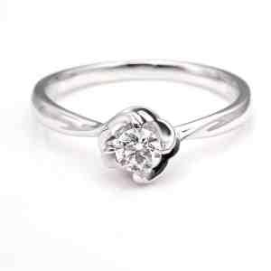 Perhiasan emas berlian white gold 18K diamond DJXJZ009