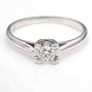 Perhiasan emas berlian white gold 18K diamond DJXJZ013