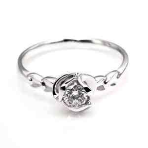Perhiasan emas berlian white gold 18K diamond DJXJZ024