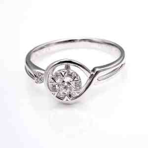 Perhiasan emas berlian white gold 18K diamond DJXJZ034