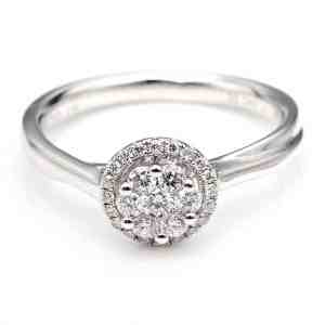 Perhiasan emas berlian white gold 18K diamond DJXJZ042