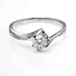 Perhiasan emas berlian white gold 18K diamond DJXJZ066