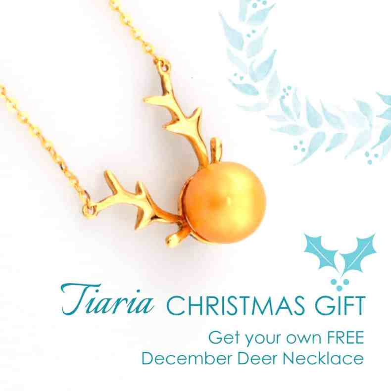 Tiaria Giveaway december deer perhiasan emas berlian