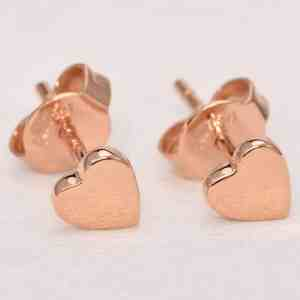 Perhiasan emas gold anting Love D3 Rose Gold Anting Emas 18K