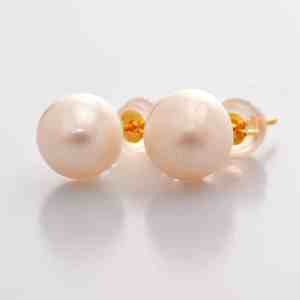 Classic Pearl Earrings Perhiasan anting emas mutiara (1)