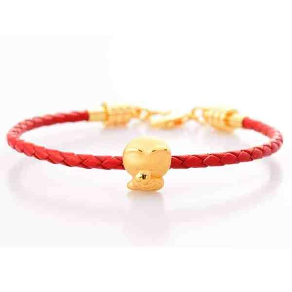 SNAKE - Perhiasan Emas 24k Tiaria Gelang emas charm bracelet (3)