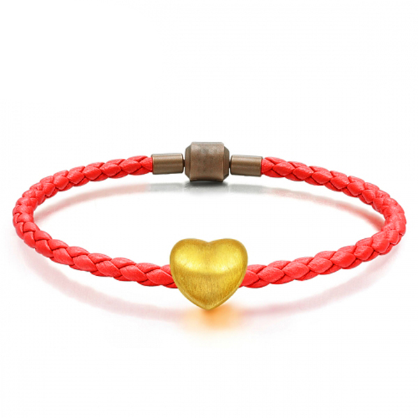 Tiaria 24K Golden Heart Charm Logam mulia 24K (4)