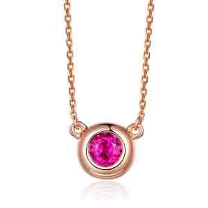 Tiaria 18K Daring Red Ruby Necklace Kalung Emas Wanita