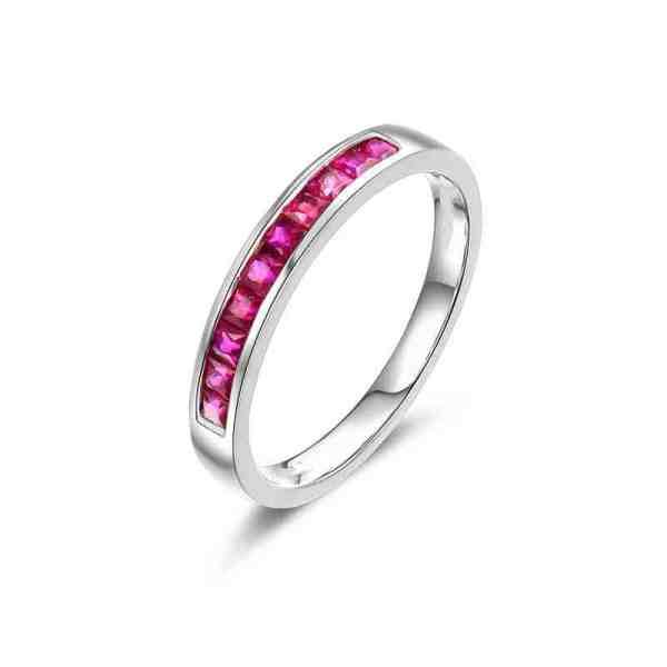 Tiaria 18K Versatile Ruby Ring Perhiasan Cincin Emas 2