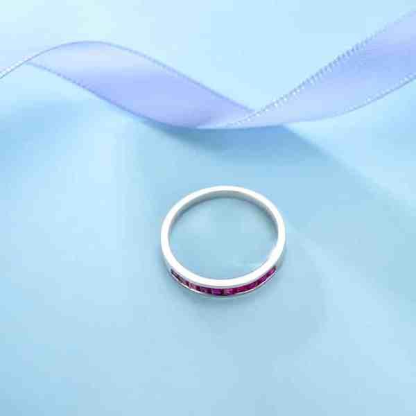 Tiaria 18K Versatile Ruby Ring Perhiasan Cincin Emas 4