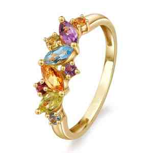 Tiaria Flawless Gems Ring Yellow Gold Perhiasan Emas Cincin 1