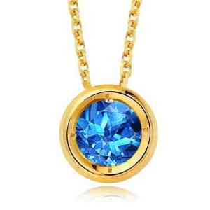 Tiaria Blue Topaz Necklace