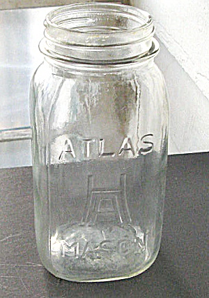 Mason Jar H Over A By Hazel Atlas Vintage