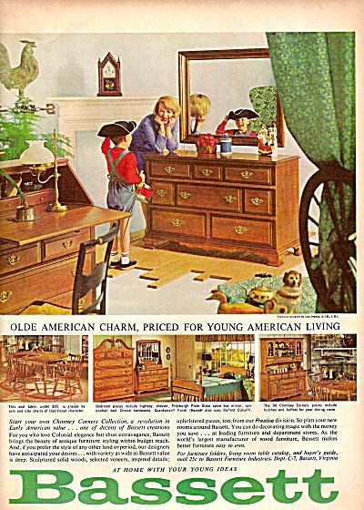 bassett furniture ad 1964